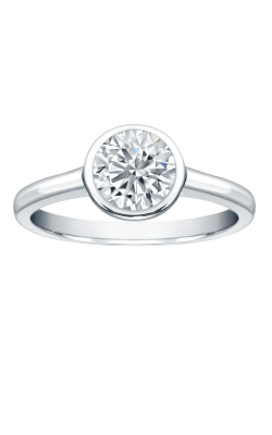Bezel Set Round Solitaire Engagement Ring product image