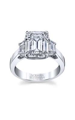 Emerald Cut 3-Stone Diamond Engagement Ring product image