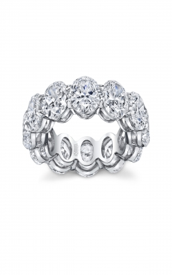 Grand Oval Cut Diamond Eternity Band  product image