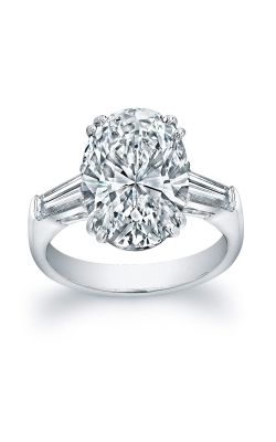 Oval Diamond 3-Stone Baguette Engagement ring  product image