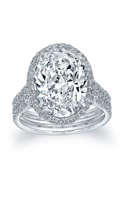 Oval Diamond 3 Row Engagement Ring product image