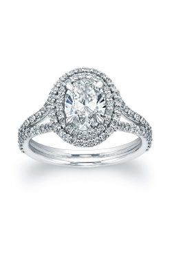 Oval Diamond Double Halo Engagement Ring ASW-18848 product image