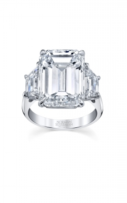 Grand Emerald Cut 3-Stone Diamond Engagement Ring product image
