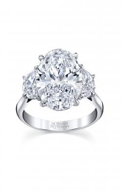 Oval 3-Stone Diamond Engagement Ring product image