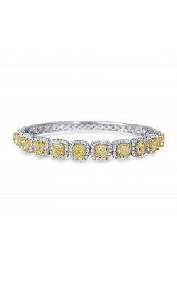 Odelia Fancy Yellow And White Diamond Bangle GLB-1064 product image