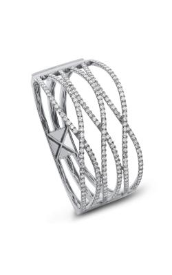 Odelia Bypass Diamond Bangle ALB-12802 product image