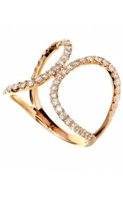 Odelia Diamond Double Oval Ring ALR-11753 product image