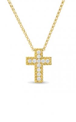 Roberto Coin Diamond Braided Cross Pendant ARJ-27937 product image