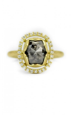 Cushion Black Diamond Halo Ring product image