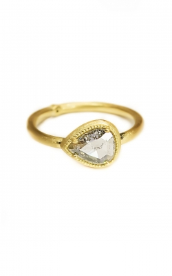 Pear Rose Cut Beaded Bezel Ring ASY-29422 product image