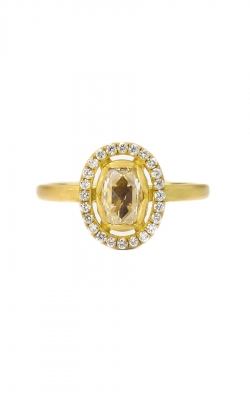 Oval Petal Halo Ring product image