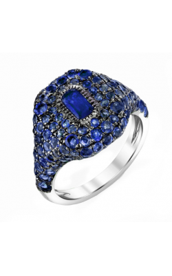 PAVE SAPPHIRE PINKY RING product image