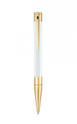 D-Initial Pearl/Gold Ballpoint Pen product image